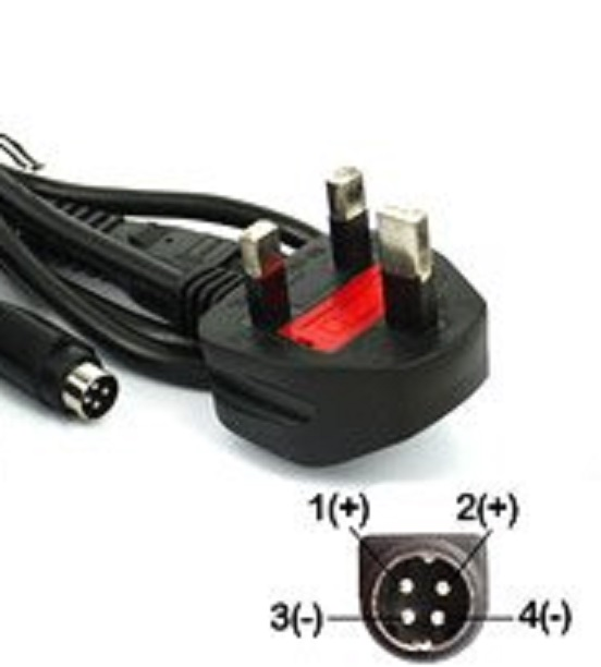 4-pin AC Adapter 12v 8a or above elo tyco electronics esy17a2 1
