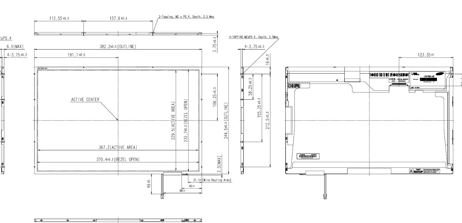 Samsung Notebook Screens Over 15 Welcome To Laptoplcdcouk Your Tv Parts Diagram 200 17 Wxga Glossy Standard Lcd Panel 30 Pin Ldv Single Connector