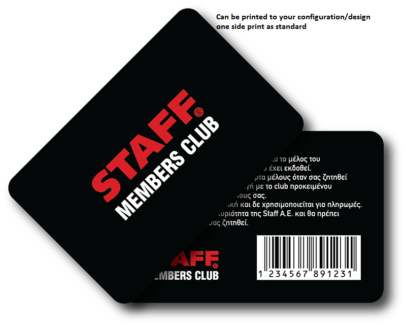 Pre printed 100 members cards pointosale epos software